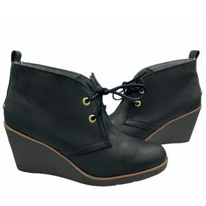 SPERRY Leather Wedge Bootie